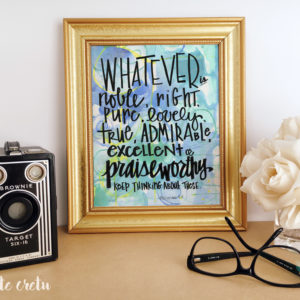 Whatever is Noble | Mixed media art print