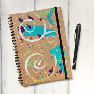 hand painted journal gift