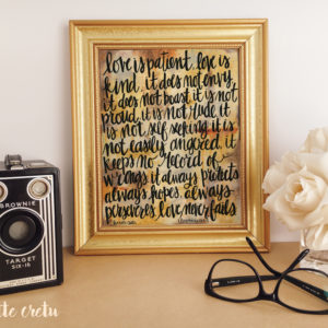 love is patient kind home decor rustic
