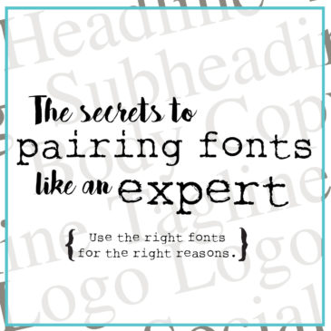 Best Practices for Pairing Fonts